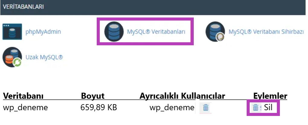 Wordpress Sıfırlama
