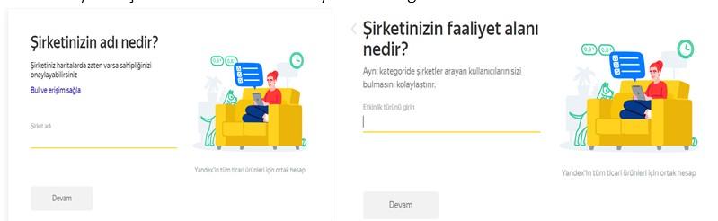 Yandex Harita Kurum Ekleme