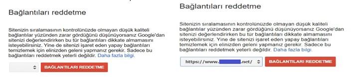 Google Bağlantı Reddetme
