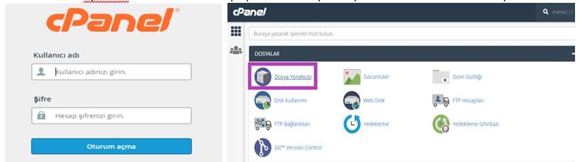 Wordpress Giriş Cpanel